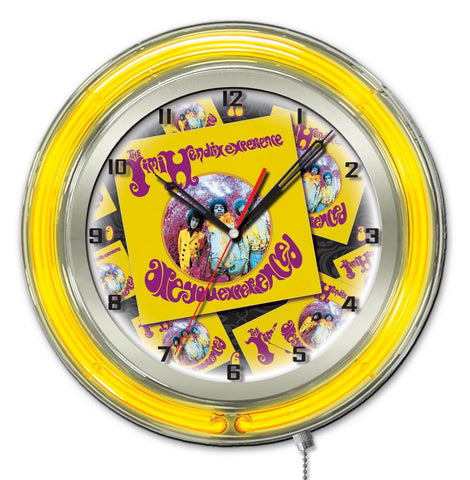 "Jimi Hendrix  19"" Neon Clock with AYE - Album design"
