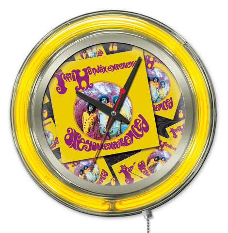 "Jimi Hendrix  15"" Neon Clock with AYE - Album design"