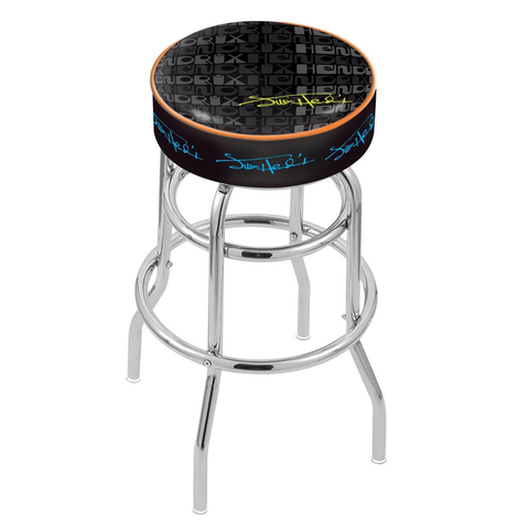 Jimi Hendrix Stool (2 Tone) - Chrome Base