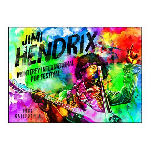 Hendrix Monterey Watercolor Lithograph