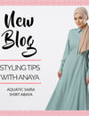 Styling Tips with Anaya: Aquatic Saira Shirt Abaya