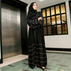 Eva Black and Pink Abaya