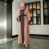 Eliya Abaya Pink with Black Lace