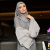 Maliha Grey Abaya with Gems