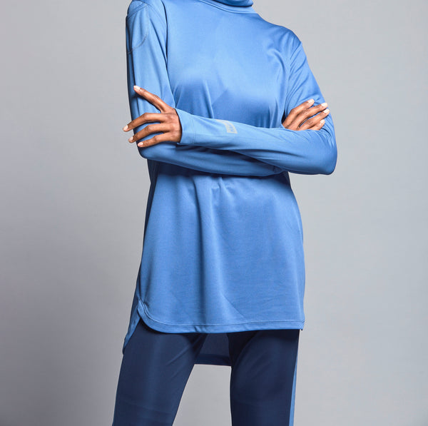 FD Sports Blue Round Neck Top - T603.12 - Anaya Clothing