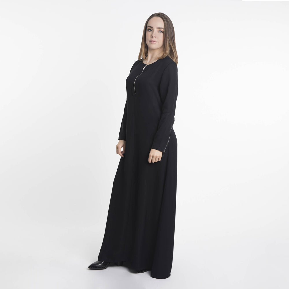 Hinah Zip Maxi Dress