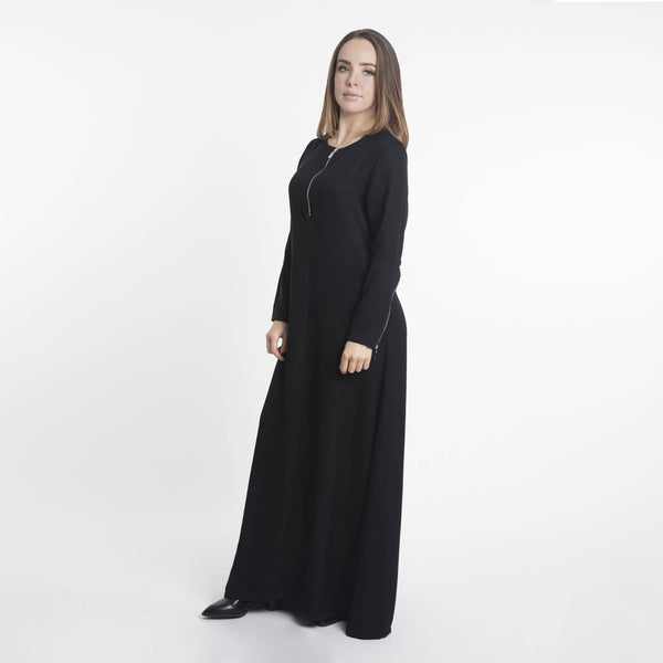 Hinah Zip Maxi Dress - Anaya Clothing