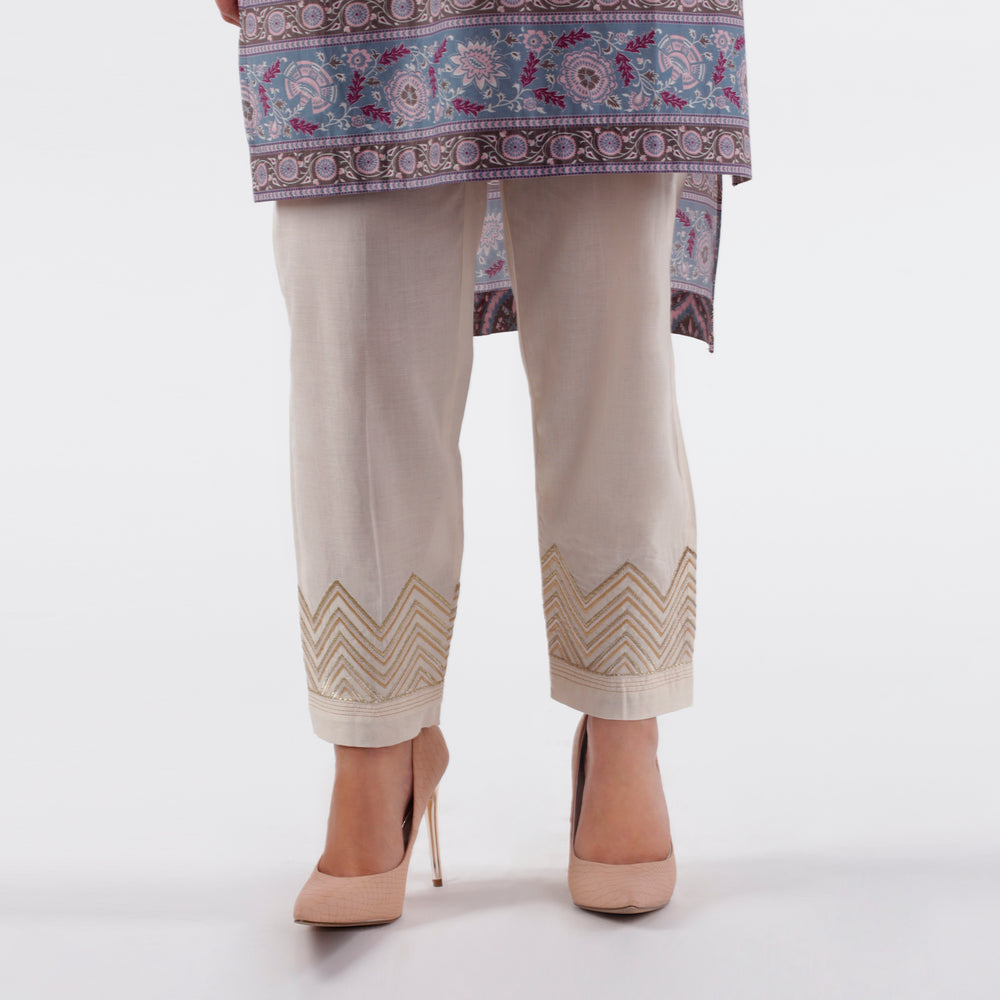 Oaks Ivory Embroidered Pants
