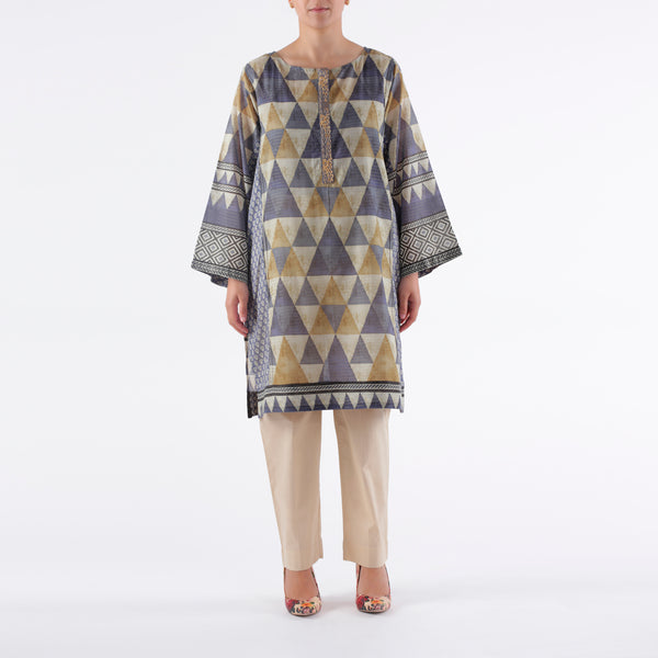 Oaks 2 Piece Grey Printed Shirt - Anaya Clothing