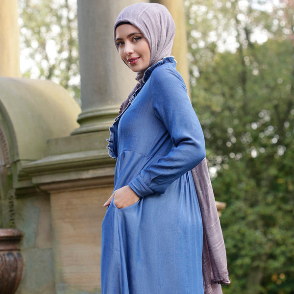 ISMA DENIM ABAYA - Anaya Clothing