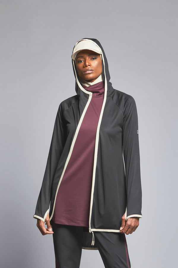 FD Sports Black Striped Jacket  - T507.20 - Anaya Clothing