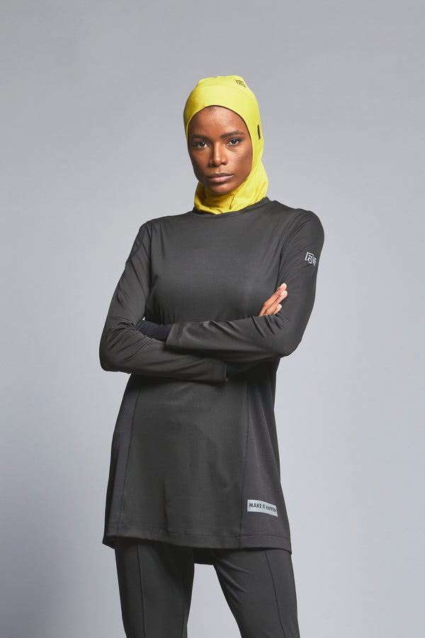 FD Sports Black Round Neck Top - T603.20 - Anaya Clothing