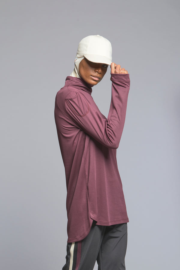 FD Sports Plum High Collar Top - T601.45 - Anaya Clothing