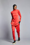 FD Sports Neon Coral Round Neck Top - T603.70