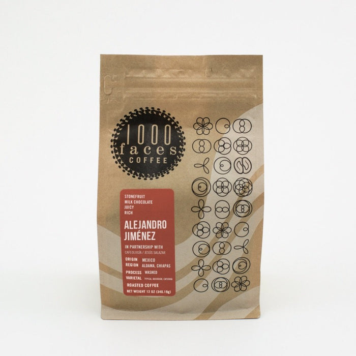 Alejandro Jimenez 1000 Faces Coffee 12oz.