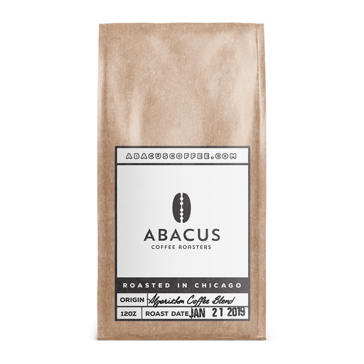 Algorithm Coffee Blend Abacus Coffee Roasters 12oz. bag 05-14-2018
