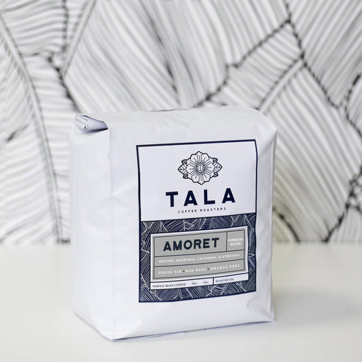 Amoret Espresso Blend 5lb pre-ground frac packs Tala Coffee Roasters 5lb frac pack