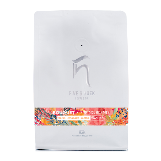 Bouquet Spring Blend Five & Hoek Coffee Co. 12oz. bag 05-16-2018