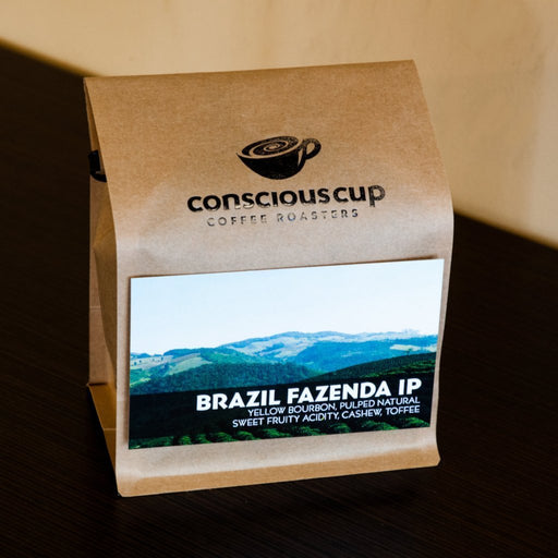 Brazil Natural, Fazenda IP Conscious Cup Coffee Roasters 12oz. bag