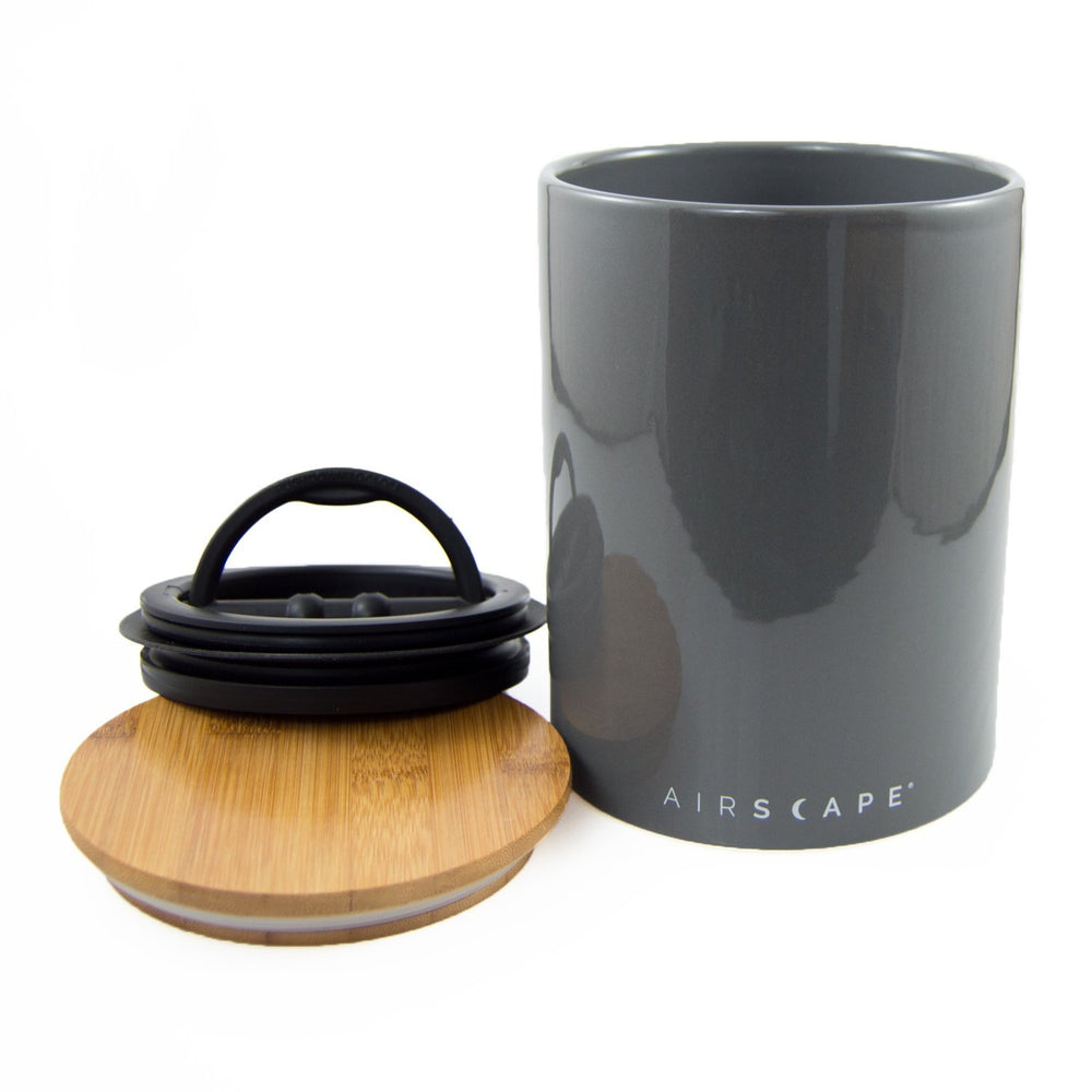 "Ceramic Coffee Canister with Airscape® Technology - 7"" Medium Planetary Design Coffee Storage"