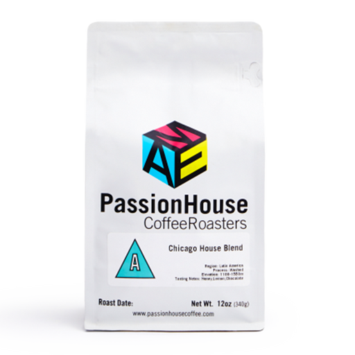 Chicago House Blend Passion House Coffee 12oz. bag 05-14-2018
