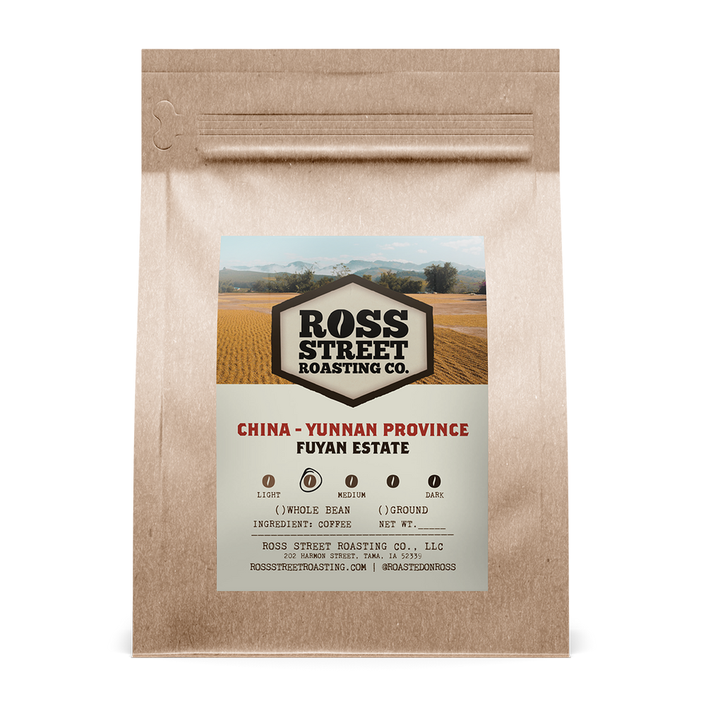 China - Yunnan Province, Fuyan Estate Ross Street Roasting Co. 12oz. bag