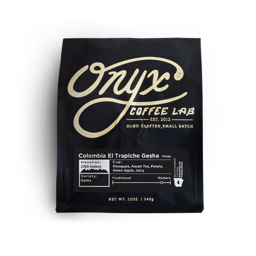 Colombia El Trapiche Gesha Onyx Coffee Lab 12oz. bag 05-16-2018