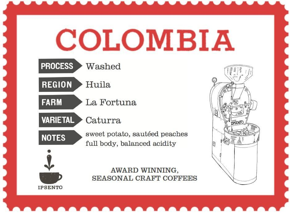 Colombia La Fortuna Ipsento Coffee 12oz. bag