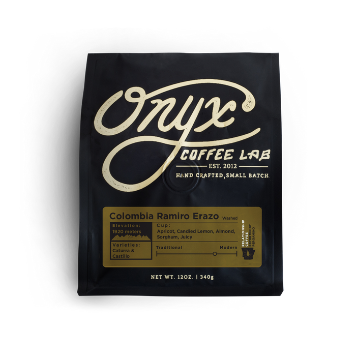 Colombia Ramiro Erazo Onyx Coffee Lab 12oz. bag 05-02-2018