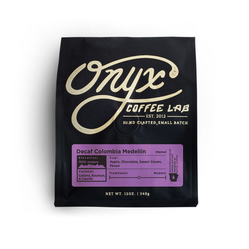 Decaf Colombia Medellín Onyx Coffee Lab 12oz. bag 04-27-2018