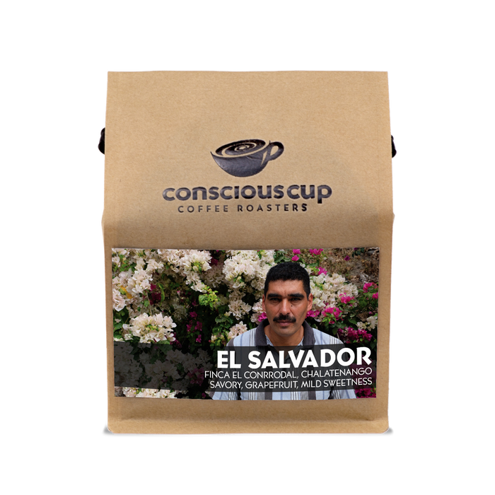 El Salvador Microlot Conscious Cup Coffee Roasters 12oz. bag 05-23-2018