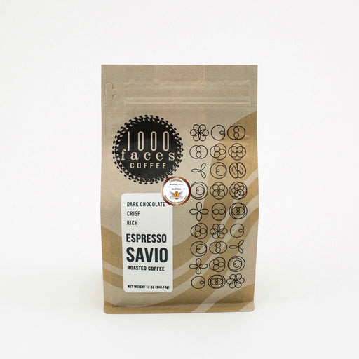 Espresso Savio 1000 Faces Coffee 12oz.