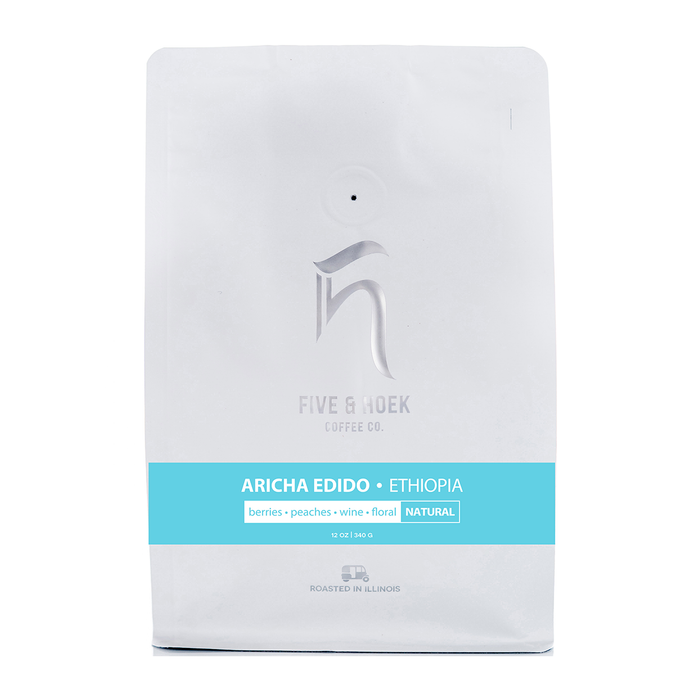 Ethiopia Aricha Natural Five & Hoek Coffee Co. 12oz. bag 06-06-2018