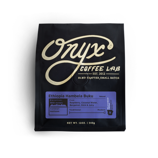 Ethiopia Hambela Buku Natural Onyx Coffee Lab 12oz. bag 04-27-2018