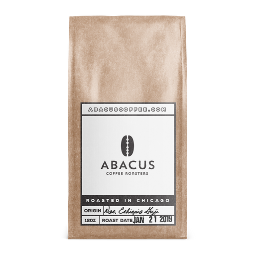 Ethiopia Natural Sidama Guji Shakisso Abacus Coffee Roasters 12oz. bag 05-14-2018
