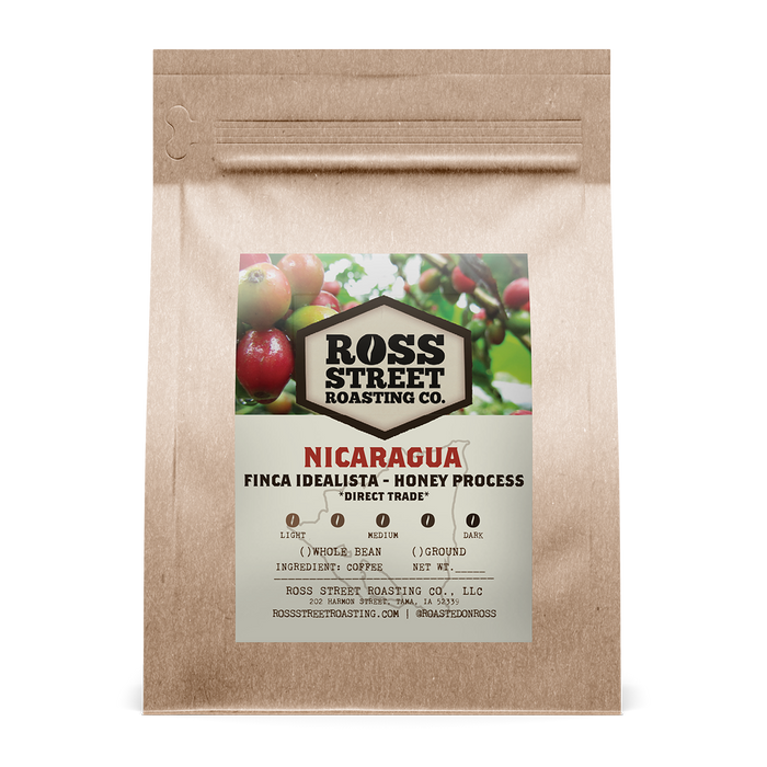 Finca Idealista Honey Process: Nicaragua Direct-Trade Ross Street Roasting Co. 12oz. bag 05-10-2018