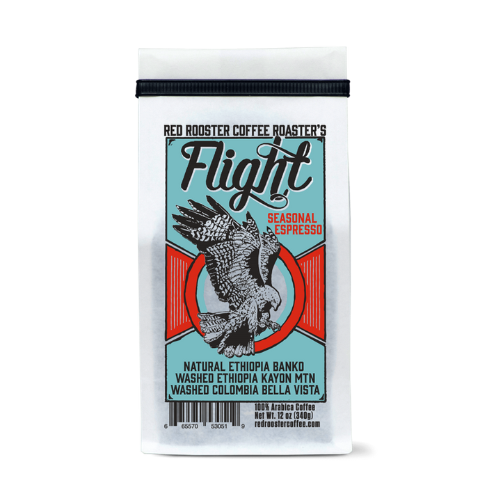 Flight Seasonal Espresso Red Rooster Coffee 12oz. bag