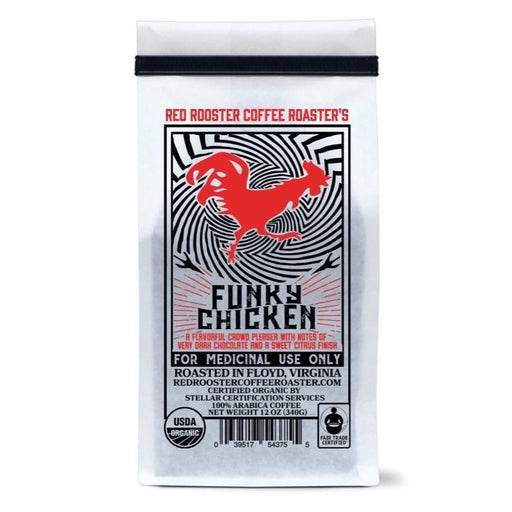 Funky Chicken Red Rooster Coffee 12oz. bag 04-27-2018