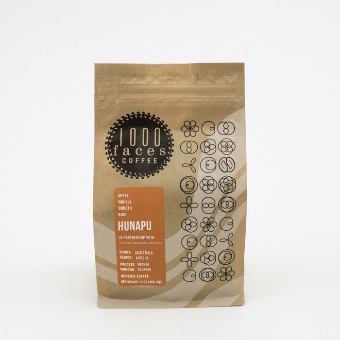 Hunapu 1000 Faces Coffee 12oz.