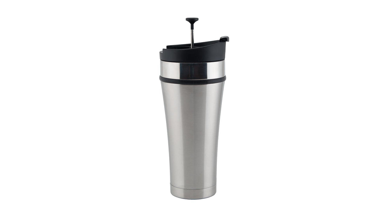 Infusion Tumbler - Cold Brew Coffee To-Go Planetary Design Mugs Brushed Steel