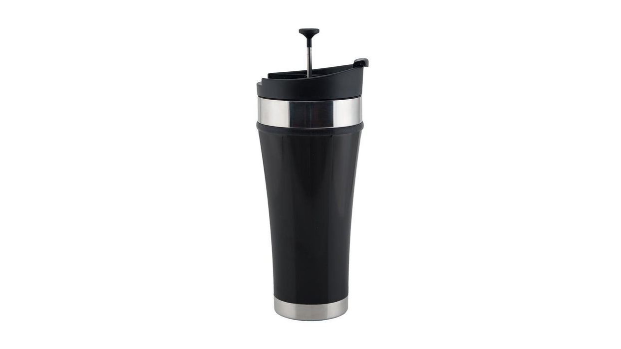 Infusion Tumbler - Cold Brew Coffee To-Go Planetary Design Mugs Obsidian (Black non-slip texture)