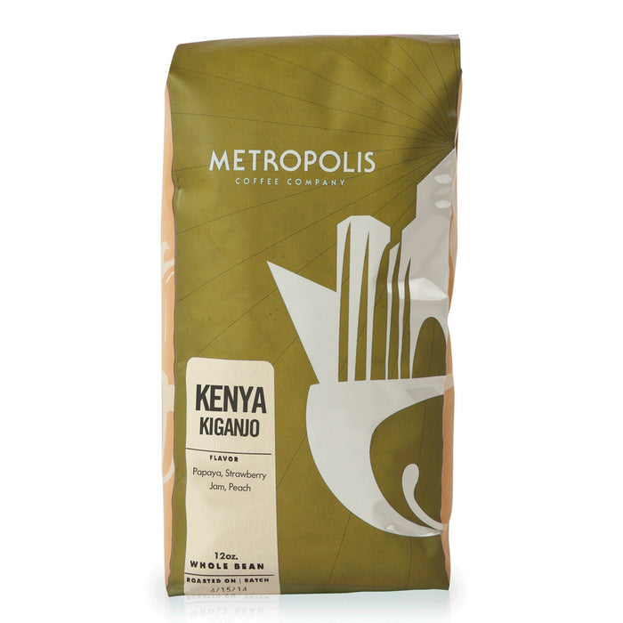 Kenya Kiganjo Metropolis Coffee Company 12oz. bag