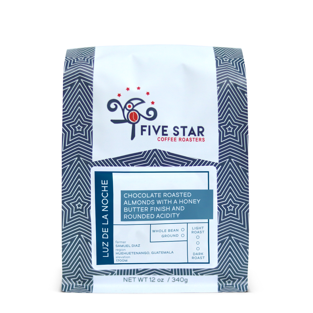 Luz de La Noche Five Star Coffee Roasters 12oz. bag