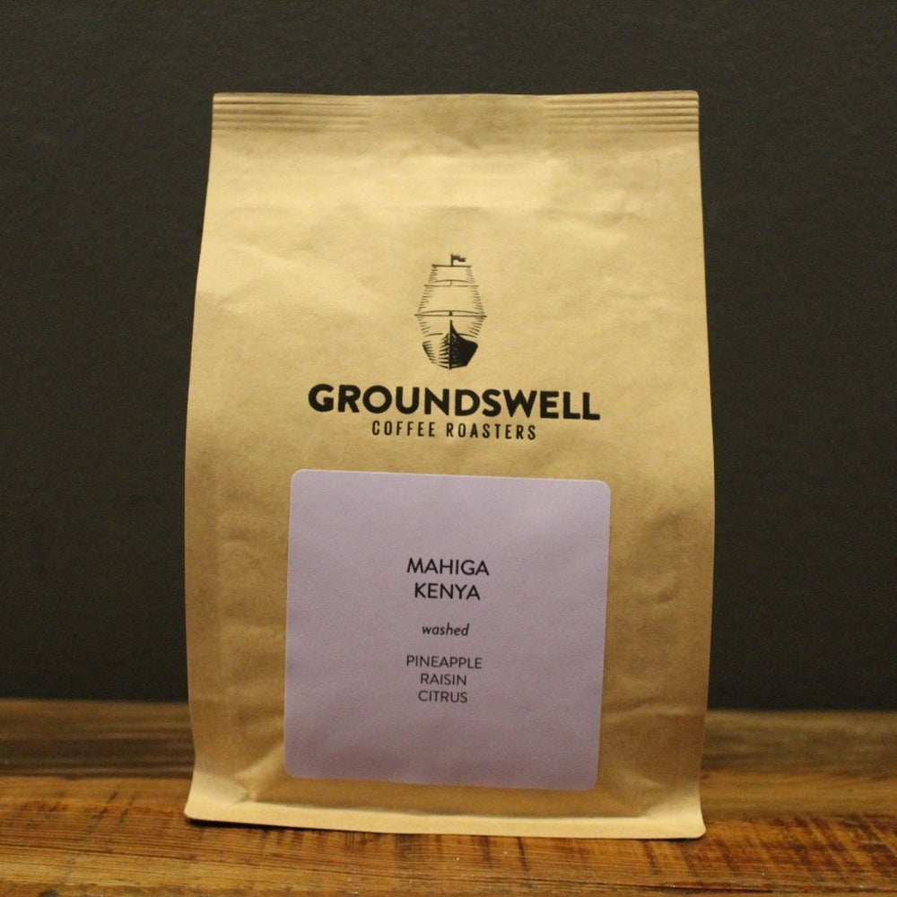 Mahiga, Kenya Groundswell Coffee Roasters 12oz. bag