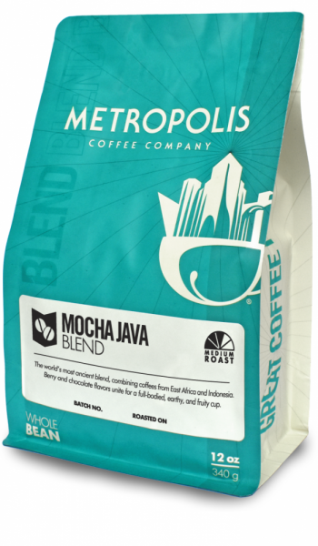Mocha Java Blend 2lb Metropolis Coffee Company 2lb bag Whole Bean