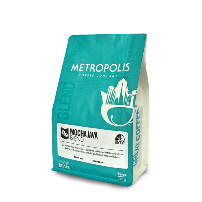 Mocha Java Blend Metropolis Coffee Company 12oz. bag
