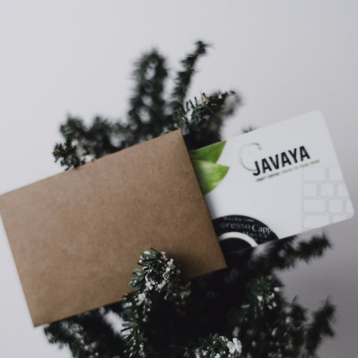 PHYSICAL Gift Card (Perfect for holiday & client gifts) Javaya • getjavaya.com Gift Card