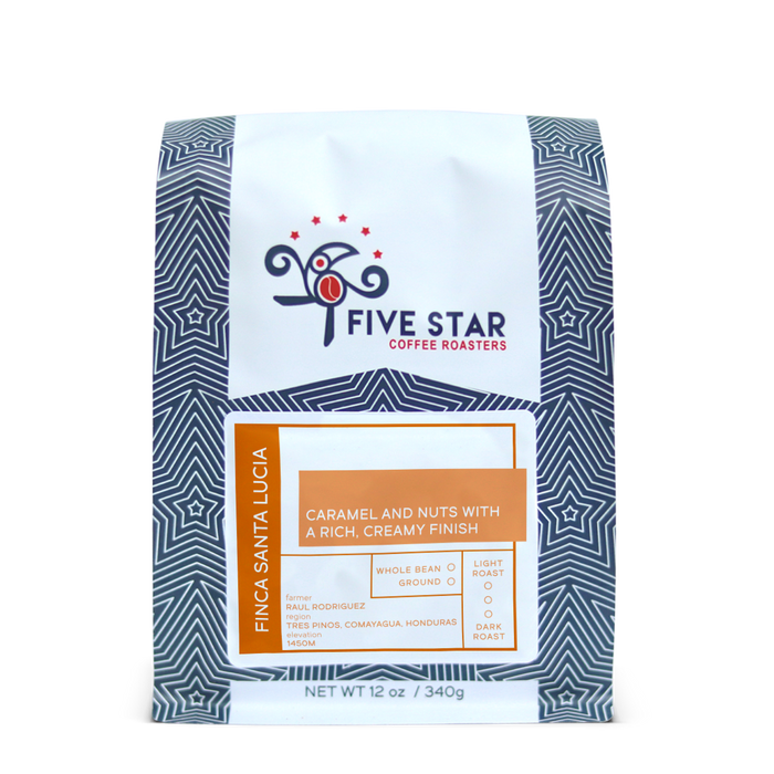 Santa Lucia Five Star Coffee Roasters 12oz. bag