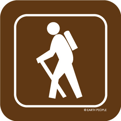 Hiker Sign Sticker