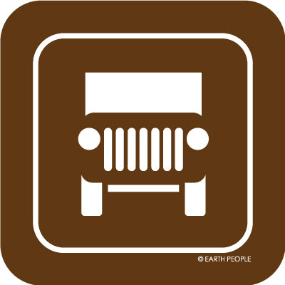 Jeeper Sign Sticker